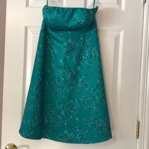 The Limited Green Strapless Dress